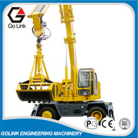 hydraulic excavator rotating grapple grab for infrastruction