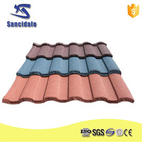 High quality fireproof building material for roof/color coated metal tile sheet mgo/asa roof tile