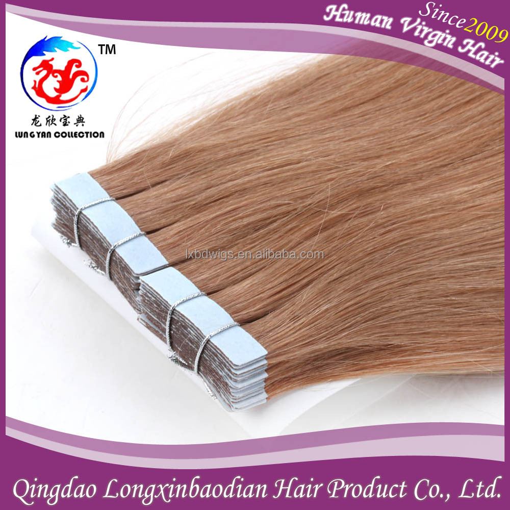 Wholesale Price 12# Color Adhesive Stick Italian Keratin Glue Full Cuticle Double Drawn Brazilian Remy Tape Hair