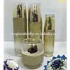 High End Gold Coating Cosmetic Glass Bottle Set With Cream Jar