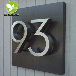 Waterproof Custom Hotel Door Room Number Signs