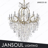 16 lights gold crystal chandeleir led light chandelier