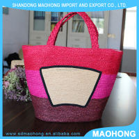 Hot sales Summer Beach raffia hand bag for women