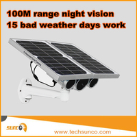 Hot solar ip network camera battery powered outdoor wireless wifi starlight ir bullet weatherproof P2P solar ip camera