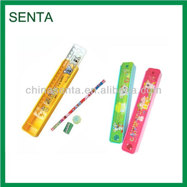 plastic stationery set pencil boxes