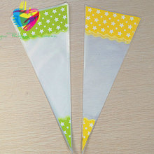 plastic cellophane bag cone poly bag triangle sandwich packaging bag