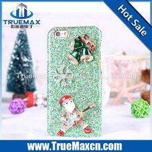 Christmas Carnival Mobile Phone Case for iPhone 5 5C 5S, Flash Powder Post Diamonds Case for iPhone 5 5C 5S