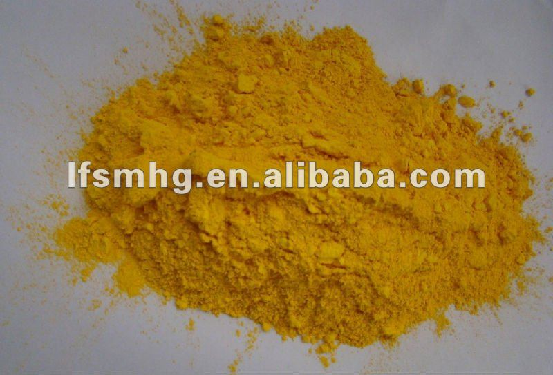 iron oxide yellow powder Fe2O3 paint pigment