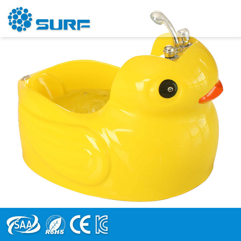 Kids Spa Equipment Lovely Duck Acrylic Yellow Natural Stone Bath Tubs