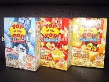 Different Flavors 3x100g Boxes Microwave Popcorn