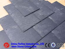 Black or dark grey roofing slate stone,natural cultured stone slate flat roof tiles