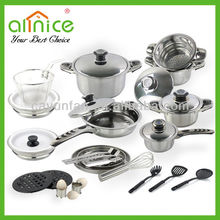 29 pcs stainless steel nonstick cookware set/wholesale cookware set/kichen ware