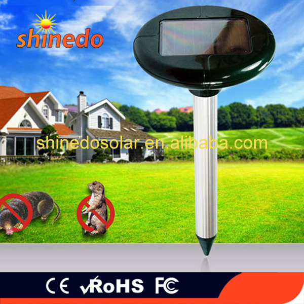 Solar power ultrasonic mouse mice mole insect pest rodent repeller wild animal repellent
