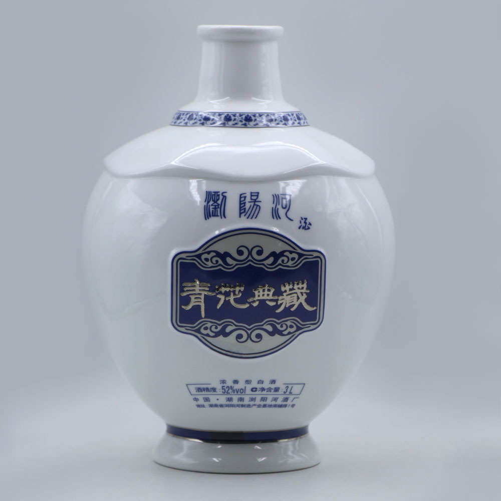 3L Chinese Style Wine Bottle, Cork Bottle, Water Container