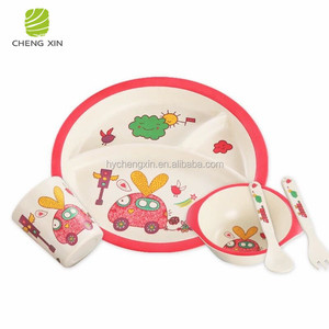 2018 Hot Sale Disposable Melamine Baby Dinner Set Kids Dining Set