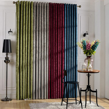 2019 hot selling 108 inch curtains hot online shopping chenille curtain #