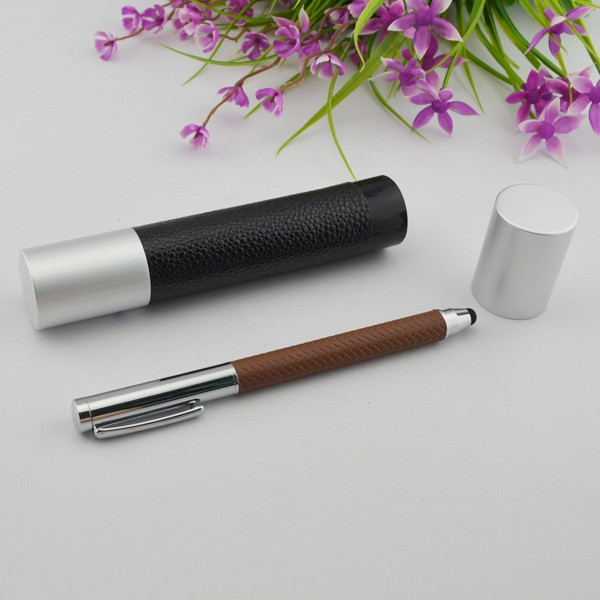 Luxury Black Metal Ball Pen And Roller Pen Set With Gift Box