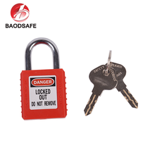 BAODI March Expo High Security Electronic Steel Shackle Red Abs Safety Padlock
