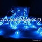 LED Ice Shaped Blue Christmas Fairy Lights 40 Bulbs