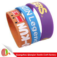 Cheapest europe custom silicone wristbands in high quality
