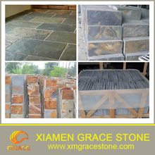 blue Natural culture Stone Rusty slate cheap price10*10*2cm