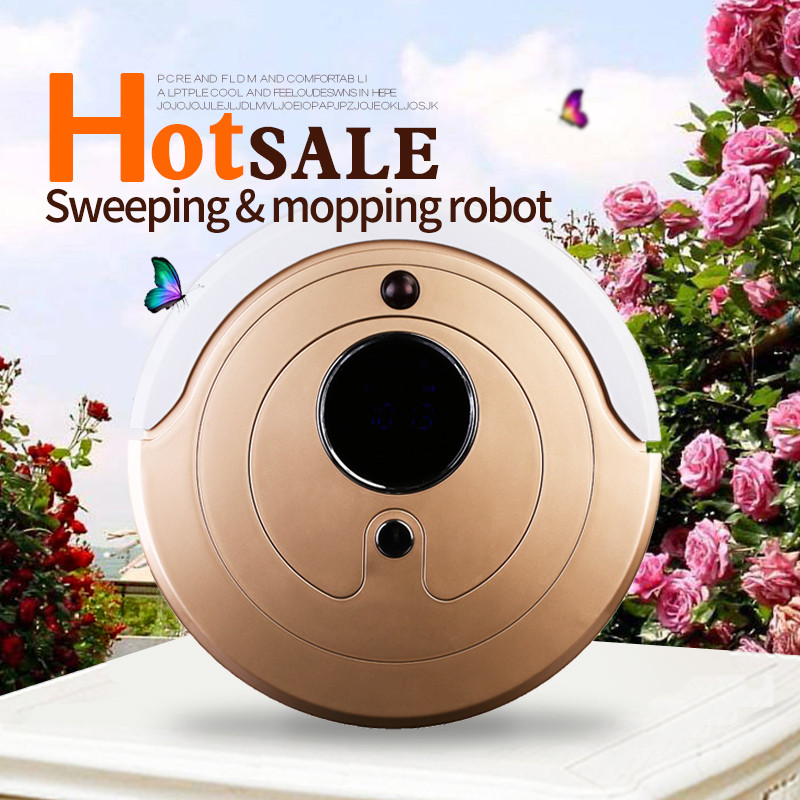 Original factory Robot Vacuum Cleaner for home Wet Dry Double Filter Sensor Self Charge
