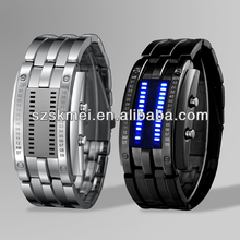 Skmei Iron Metal Samurai Blue Light LED Faceless Lava Watch