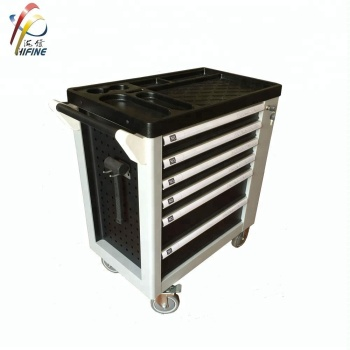 New Style Garage Storage 6 Drawers Tool Trolley with Side Door/Holes