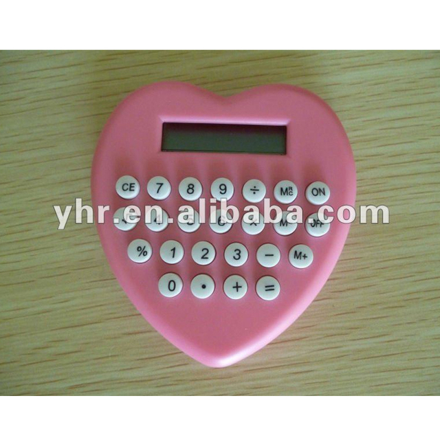 heart shape 8 digital calculator
