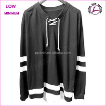Wholesale new design men 100%cotton high quality custom two tone sweatshirt hockey jersey