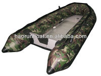 3.8m camouflage color pvc inflatable boat 380