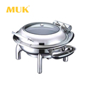 Hot sale hotel restaurant stainless steel round buffet dinner chafing dish