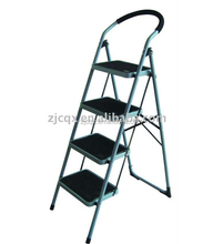 Multi Functional Household 4 Steel Step Ladder with Safety Rail