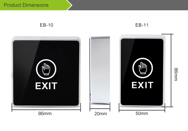 Emergency Infrared sensor exit button release door switch