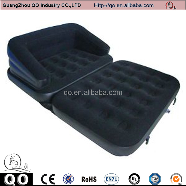 Comfortable black inflatable sofa air bed for sale