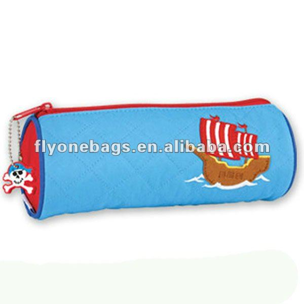 cheap cartoon round pencil case for kids