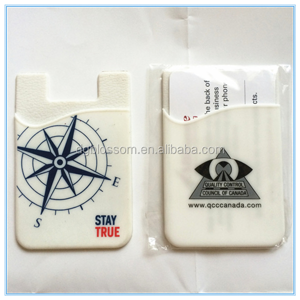 Promotional phone wallet silicone phone card keeper retails mobile card holder