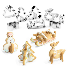 Best 족 DIY Tool Christmas Tree Cookie Cutter Set
