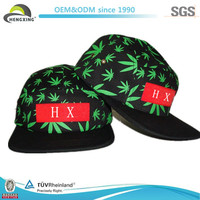2014 New Style Popular Floral Custom 5 Panel Cap China Manufacture