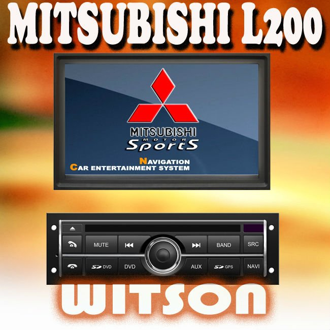 WITSON MITSUBISHI L200 3G CAR STEREO with USB port and iPod ready