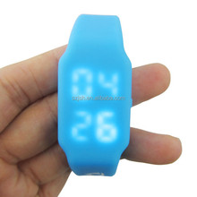 OEM custom usb 2.0 colorful led watch bracelet wristband silicone usb flash drive wrist watch