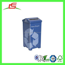 E0072 Shenzhen Supplier Decorative Recycling Customized Printed Waste Paper Bin