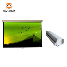 100 inch wall hanging projection screen with aluminum casing