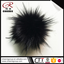Latest New Design OEM artificial yarn wholesale black and silver poms pom pictures