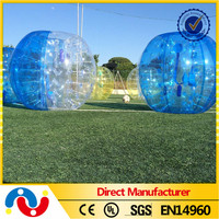 Half color inflatable blue bumper soccer ball for adult inflatalbe bubble football for sale