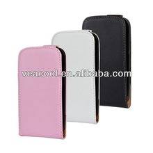 Flip Real Leather Case Cover for HTC Desire V T328w / Desire X T328e Case
