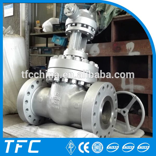 Durable 12 inch wcc manual cast steel flange slide gate valve