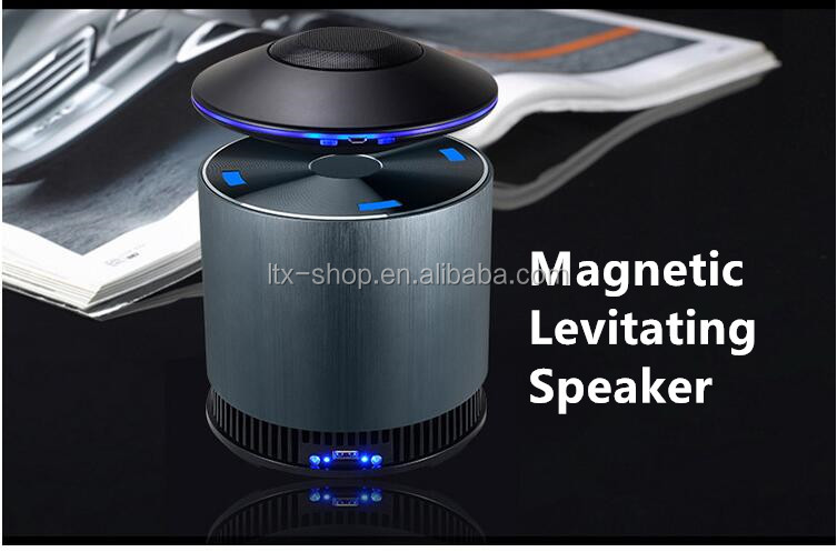 2016 Newest Creative UFO Magnetic Levitating Bluetooth Speaker Super bass Bluetooth HIFI Magnetic Levitating Speaker