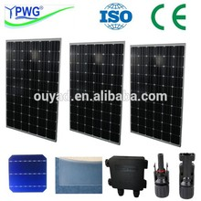 export factory price best price per watt monocrystalline silicon 250w solar panel