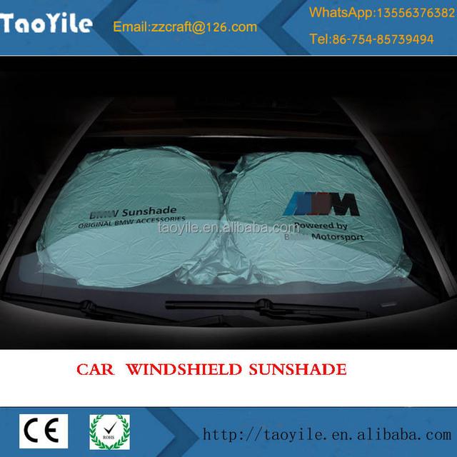 2018 wholesale auto truck folding front window custom car sun shade